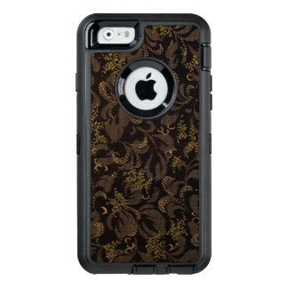 Brown Embroidery Look OtterBox Defender iPhone Case
