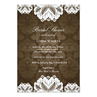 Brown Exotic flower | Bridal Shower Invitation