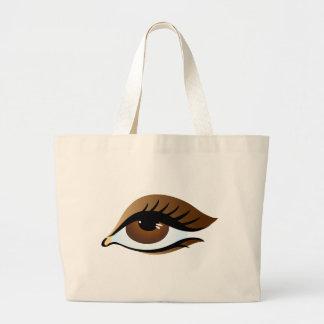 brown eye tote bag