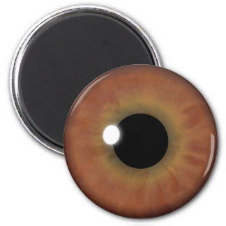 Brown Eye Iris Eyeball Cool Custom Round Magnets