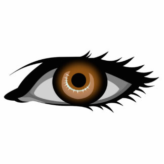 Brown Eye Acrylic Cut Out