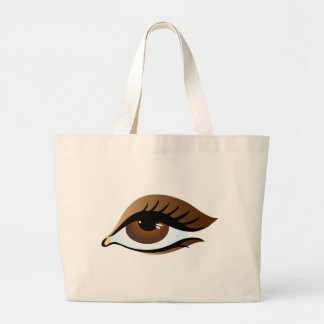brown eye jumbo tote bag