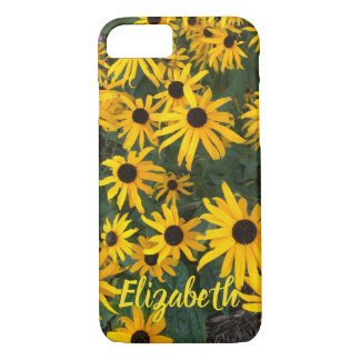 Brown Eyed Susan and Custom Name iPhone 8/7 Case