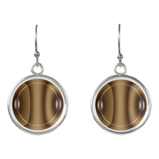 Brown Eyes circular drop earrings