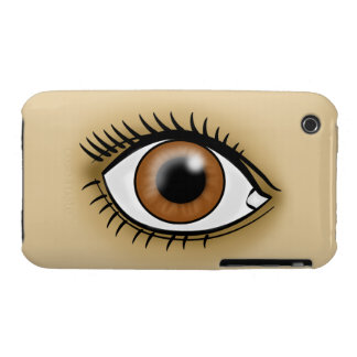 Brown Eyes icon iPhone 3 Case
