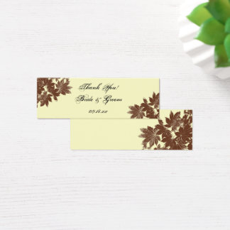 Brown Fall Leaf Stamp Wedding Favor Tag