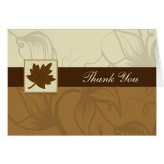 brown fall wedding Thank You Card