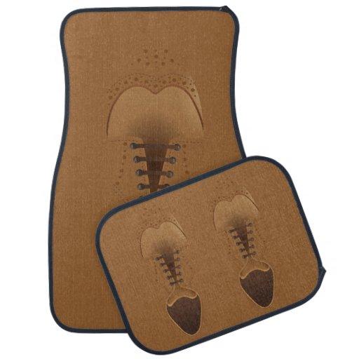 Brown Fashion Leather Men's Shoe Car Mat