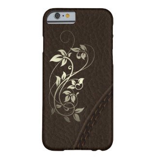 Brown Faux Leather Upholstery Barely There iPhone 6 Case