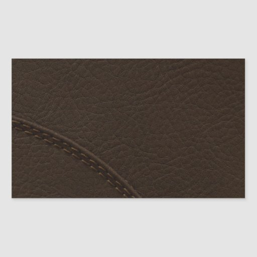 Brown Faux Leather Upholstery Rectangle Stickers
