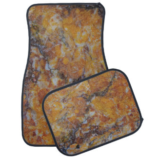 Brown Faux Marble Stone Print Car Mat