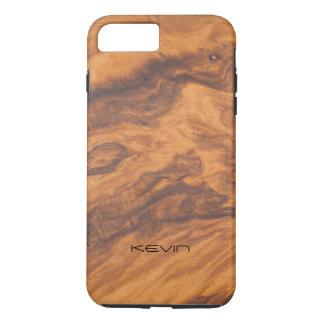 Brown Faux Wood Texture Modern Design iPhone 8 Plus/7 Plus Case