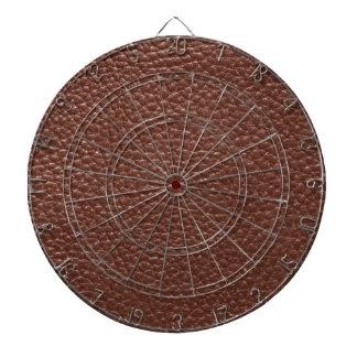 Brown Faux Worn Leather Dartboard