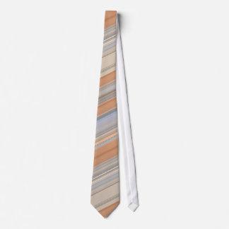 Brown Fawn Blue Grey Stripe Tie