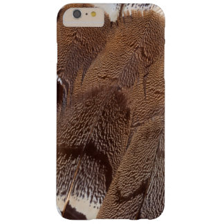 Brown Feather Design Barely There iPhone 6 Plus Case