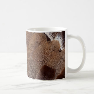 Brown Feather Design Coffee Mug