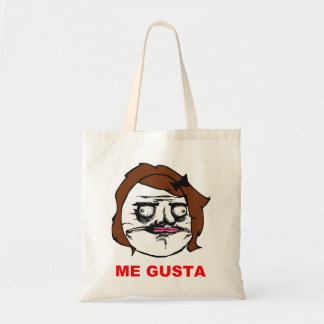 Brown Female Me Gusta Comic Rage Face Meme Budget Tote Bag