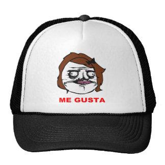 Brown Female Me Gusta Comic Rage Face Meme Trucker Hats