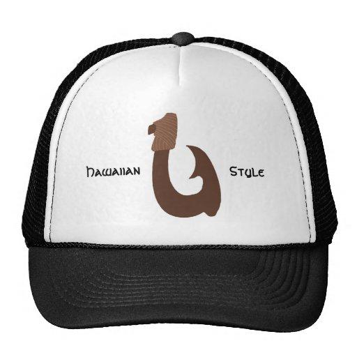 Brown fish hook, Hawaiian, Style  hat
