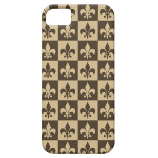 Brown Fleur de lis Barely There iPhone 5 Case