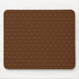 Brown Fleur-de-lis Pattern Mouse Pad