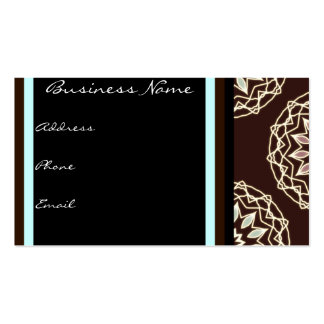 Brown Floral Abstract Business Card