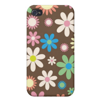 Brown floral design iPhone 4 cover