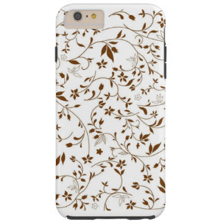 brown floral pattern case
