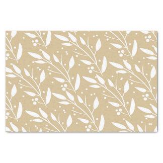 Brown Floral Tissue Paper