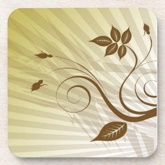 brown flower Cork Coaster
