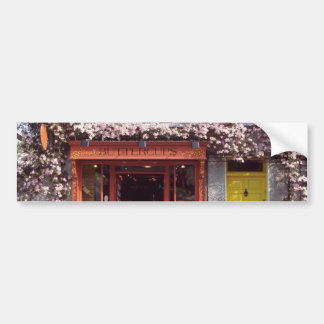 Brown Flower-covered bakery flowers Bumper Sticker
