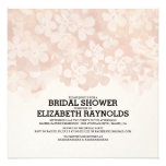 Brown Flowers Bridal Shower Invitations Personalized Invitation