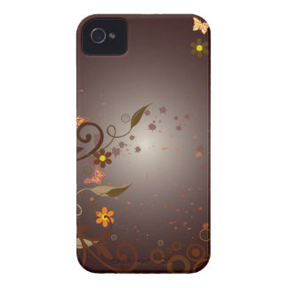 Brown Flowers & Vines iPhone 4 Case-Mate Cases