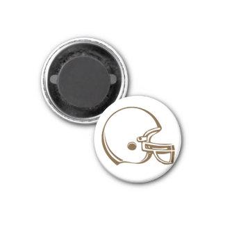 Brown football helmet simple magnet