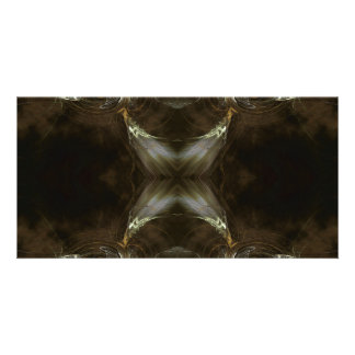 Brown Fractal Pattern. Picture Card