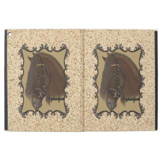 Brown Friesian Draft Horse