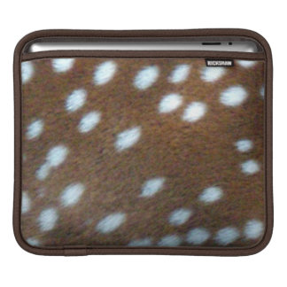 Brown fur with white Bambi dots iPad Sleeve