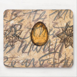brown geography pearl mouse pad