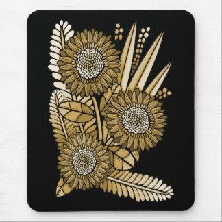 Brown Gerbera Daisy Flower Bouquet Mouse Pad