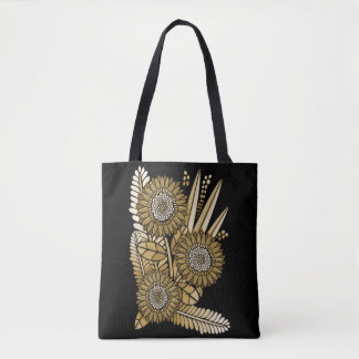 Brown Gerbera Daisy Flower Bouquet Tote Bag