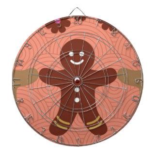 brown gingerbread pink Metal Cage Dartboard