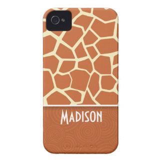 Brown Giraffe Pattern iPhone 4 Cases