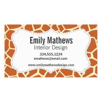 Brown Giraffe Pattern Pack Of Standard Business Cards