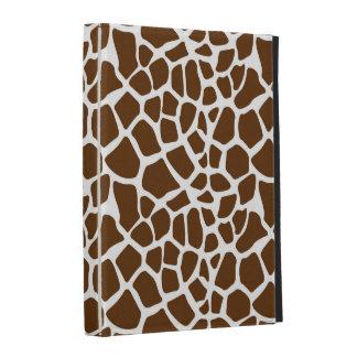 Brown Giraffe Print iPad Folio Case