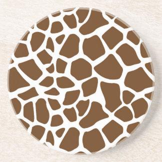 Brown Giraffe Print Coasters