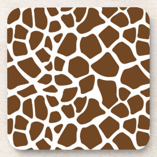 Brown Giraffe Print Coasters