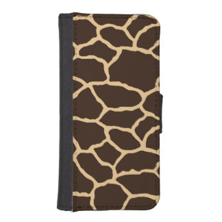Brown Giraffe Print iPhone 5/5s Wallet Case