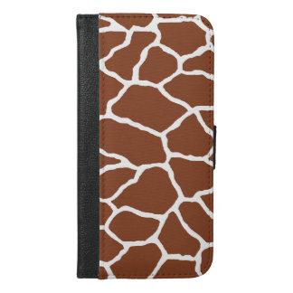 Brown Giraffe Print iPhone 6/6s Plus Wallet Case