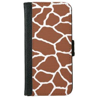 Brown Giraffe Print iPhone 6/6s Wallet Case iPhone 6 Wallet Case