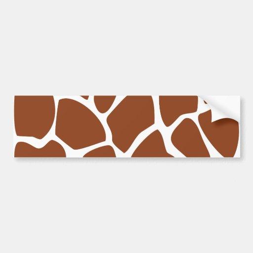 Brown Giraffe Print Pattern. Bumper Stickers
